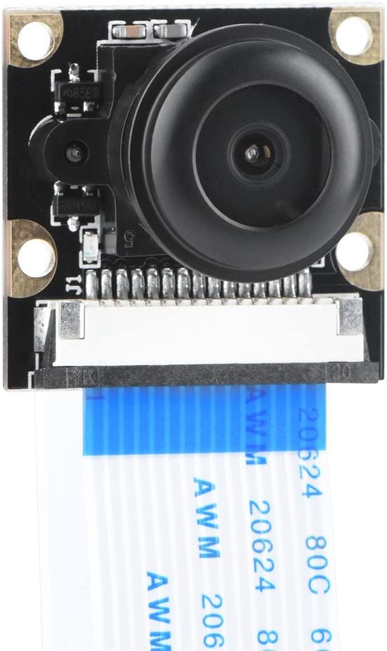 15Cm Zopsc Fisheye Camera Module Lens W//Fill Light,Fisheye Camera 5Mp Wide Angle with 15Cm 15Pin Flat Cable 50Cm 15Pin Extension Flat Cable for Rpi 2//3//B+