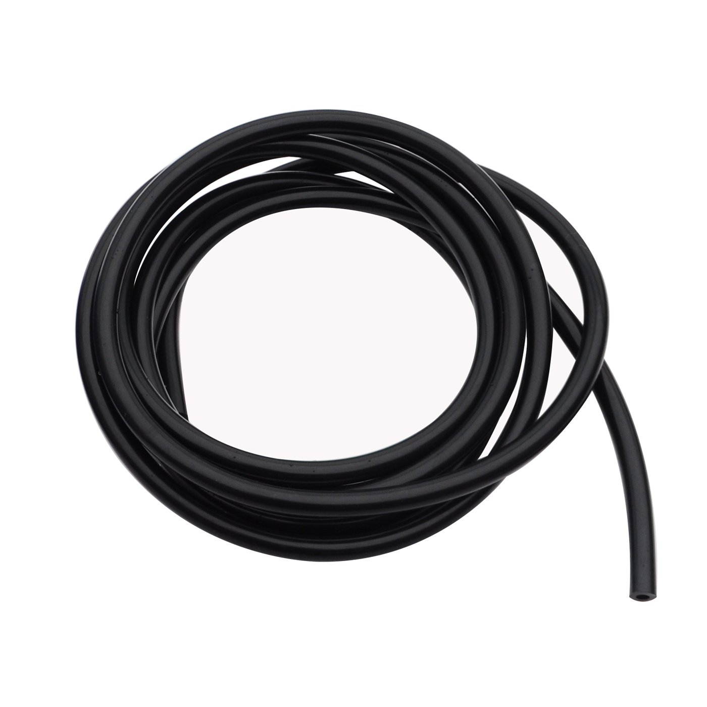 "High Performance Silicone Vacuum Tubing Hose, ID 0.16"" (4mm), OD 0.35"" (9mm), 10 Feet per roll (3 Meter), Black 60 psi Maxium Pressure"