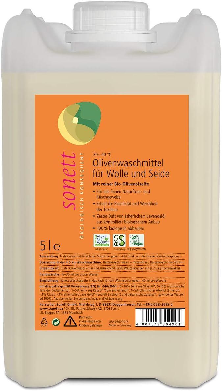 Soneto olivo Detergente para lana y seda tejido: para todos finas ...