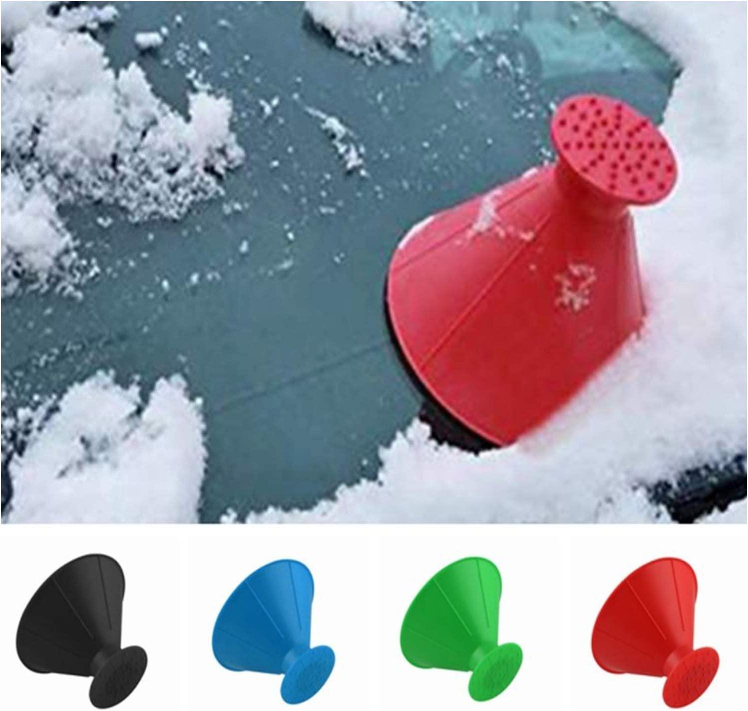 funnel cone Red winter snow plastic car snow scraper GreceMonday Car snow shovel