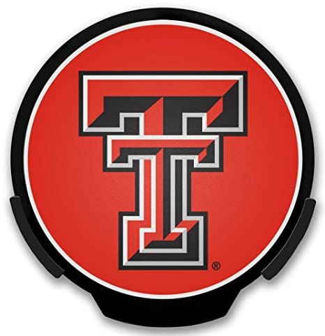 Rico Industries NCAA Light Up Power Decal, Texas Tech