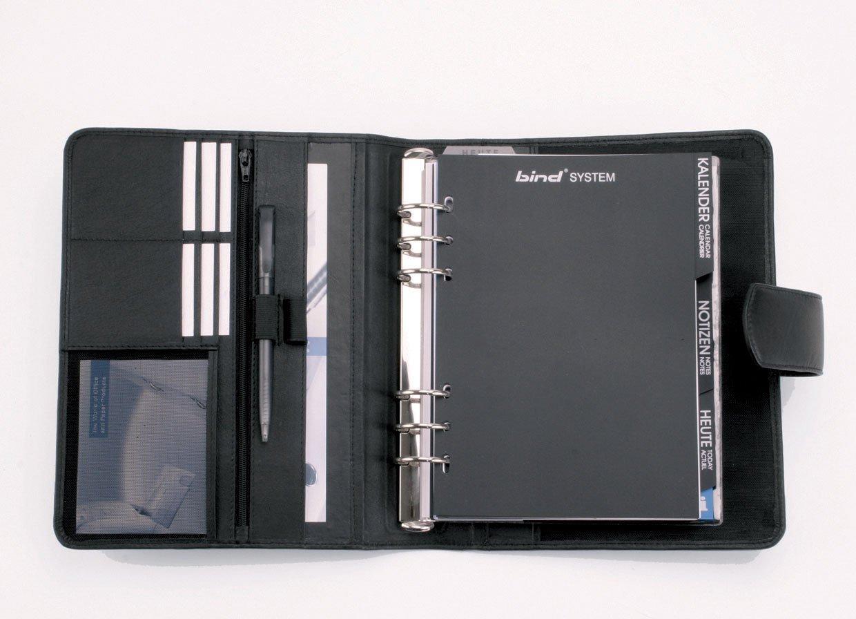 bind T 5 mit A5 Terminkalender 1W=2S jeweils ab September mit aktuellem Folgejahr Systemplaner Mappe A5 mit Magnetverschlu/ß 24,5 /× 21 /× 5 cm aus Nappaleder ca schwarz