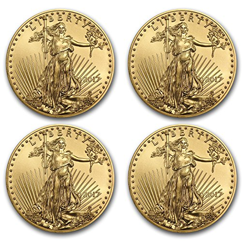 Gold Eagle Set (2017 1 oz Gold American Eagle Coin BU (Lot of 4) Brilliant Uncirculated)