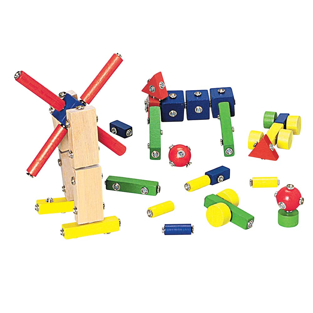 B000WBHM26 Constructive Playthings Children's Snap N Play Blocks, 65 Piece Set, Ages 3 Years and Up 61FgimKTeZL._SL1000_