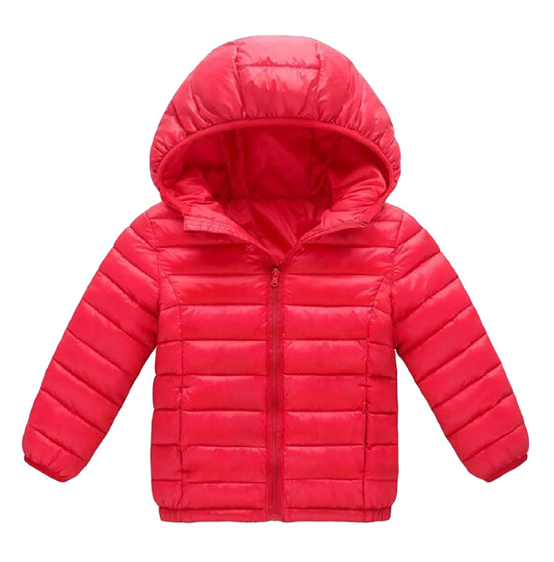 Lutratocro Big Girls Parkas Light Weight Winter Zip Up Hooded Outwear Jackets Coat