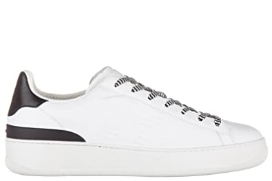 Chaussures baskets sneakers homme en cuir pure 86 allacciato Hogan Rebel TAJrU8