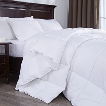 Amazon.com: Puredown Lightweight White Down Alternative Comforter ...