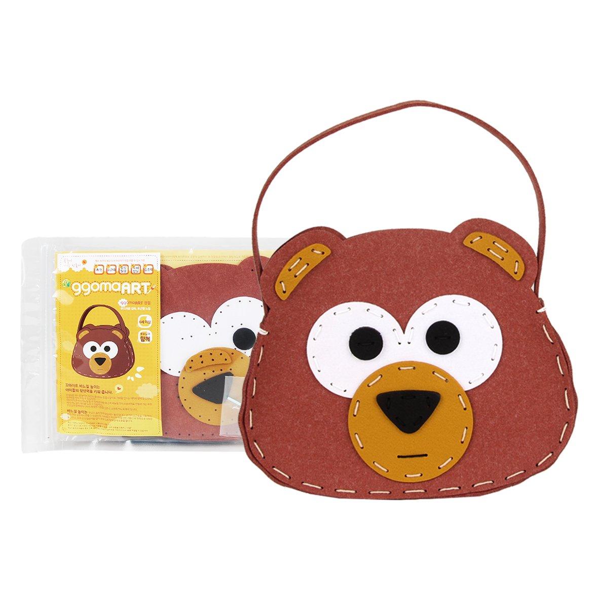 (BAG BEAR) - ggomaArt Sewing kit for Kids DIY Crafts Bear Handbag   B01N15979E