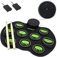 KKmoon Bateria Eletrônica Portátil Set - ammoon Digital Roll-Up Sensível Ao Toque Prática Drum Kit 9 Almofadas De Bateria 2 Pedais Para Crianças Dos Miúdos Iniciantes (Sem Falantes)