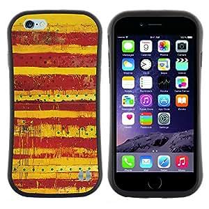 """Hypernova Slim Fit Dual Barniz Protector Caso Case Funda Para Apple (5.5 inches!!!) iPhone 6 Plus / 6S Plus ( 5.5 ) [Sucias Patrón Lunares rojos Líneas""""]"""