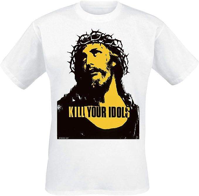Band-Merch Guns N Roses Use Your Illusion M/änner T-Shirt wei/ß Bands