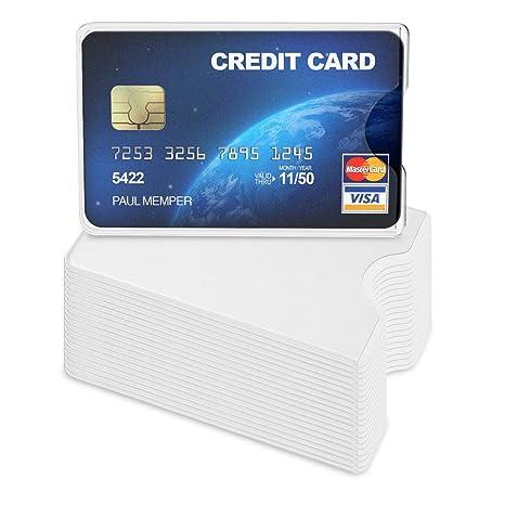 kwmobile 20x Funda Protectora Tarjeta de crédito y débito - Cubierta de protección para Tarjetas - Tarjetero Individual de Color Transparente