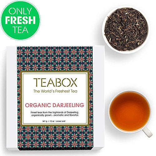 Teabox USDA Organic Himalayan Darjeeling Black Loose Leaf Tea 12 Oz. (170 Cups) | Fresh Whole Leaf Tea (2 Free Exotic Samples) |100% Natural Ingredients: Basil, Fennel, Orange | Sourced from India by Teabox (Image #9)