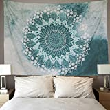 PANDAYAQ Indian Mandala Tapestry Wall Hanging Floral Pattern Bohemian Hippie Flower Psychedelic Tapestry Ethnic Decorative Fabric Tapestry for Dorm Home Decor Beach Cover