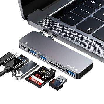 ZILI Hub USB C, Adaptador Tipo Hub 6 en 1, 3 Puertos USB 3.0 ...