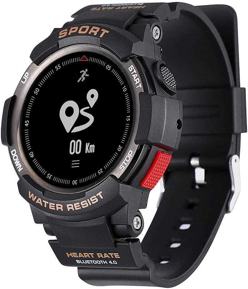 Zerone Fitness Tracker Reloj deportivo, IP68 impermeable al aire libre reloj inteligente Bluetooth 4.0 Salud Condición reloj pulsera GPS podómetro