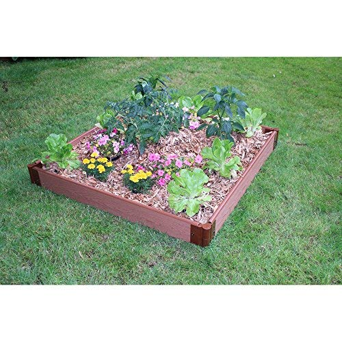 Frame It All 1-inch Series Composite Raised Garden Bed Kit - 4ft. x 4ft. x - Bed Raised Timber