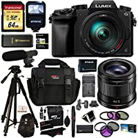 Panasonic G7HK 4K Digital Mirrorless Camera 14-140mm Lens Kit, Panasonic H-HS043K LUMIX G 42.5mm f/1.7 Asph. Power O.I.S., Transcend 64GB, Polaroid Tripod, Flash, Microphone, Filter & Accessory Bundle Noticeable Review Image