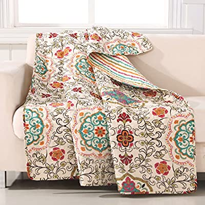 Greenland Home Esprit Spice Quilted Throw - 100-Percent cotton face, back and fill Machine quilted for durability and surface interest Machine washable - blankets-throws, bedroom-sheets-comforters, bedroom - 61FglQ12ZcL. SS400  -