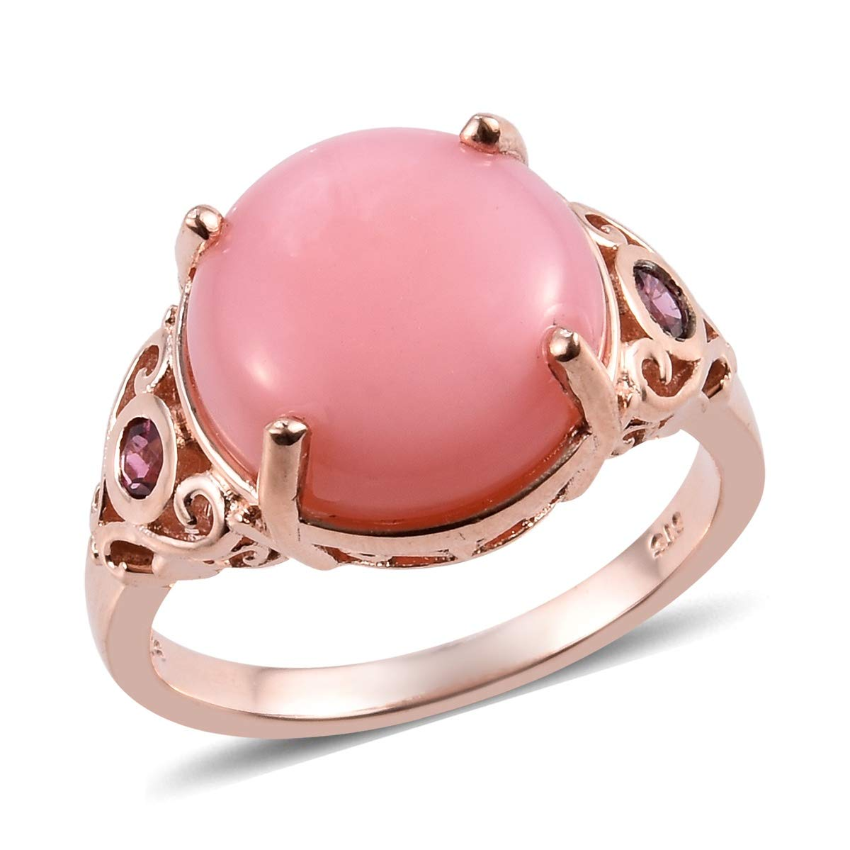 Pink Opal Pink Tourmaline Promise Ring 925 Sterling Silver Vermeil Rose Gold Jewelry for Women Size 6 by Shop LC Delivering Joy