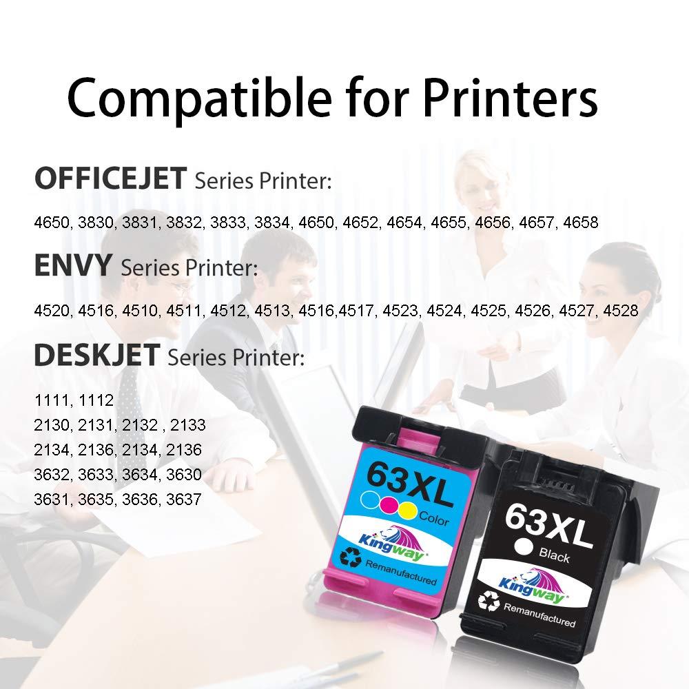 Kingway - Cartucho de Tinta remanufacturado para Impresora HP 63XL ...
