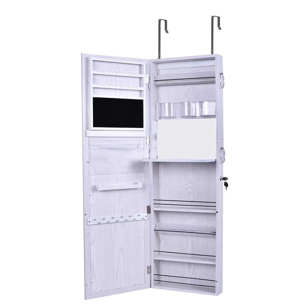fr box us fashion tilt organizer armoire ikayaa instruction mirrored dressing standing with jewelry uk mirror stock assemble cabinet storage accessories adjustable item