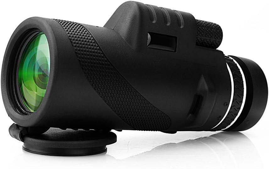 Telescopio monocular 40X60 con enfoque dual zoom óptico Telescopio impermeable a prueba de niebla con visión para día y noche de pájaros turismo caza acampada concierto y mucho más de 500 a 9500metros