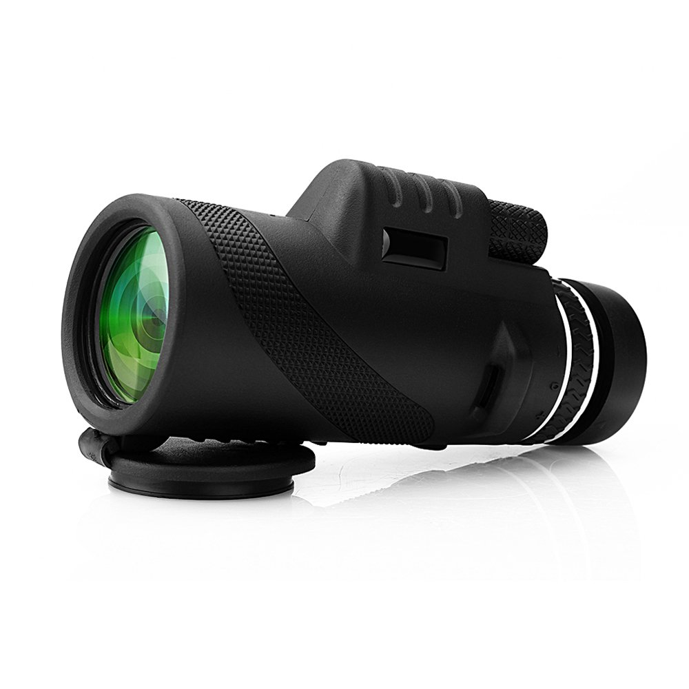 Telescopio monocular 40X60 con enfoque dual zoom óptico Telescopio impermeable a prueba de niebla con visión para día y noche de pájaros turismo caza acampada concierto y mucho más de 500 a 9500metros Sumbay