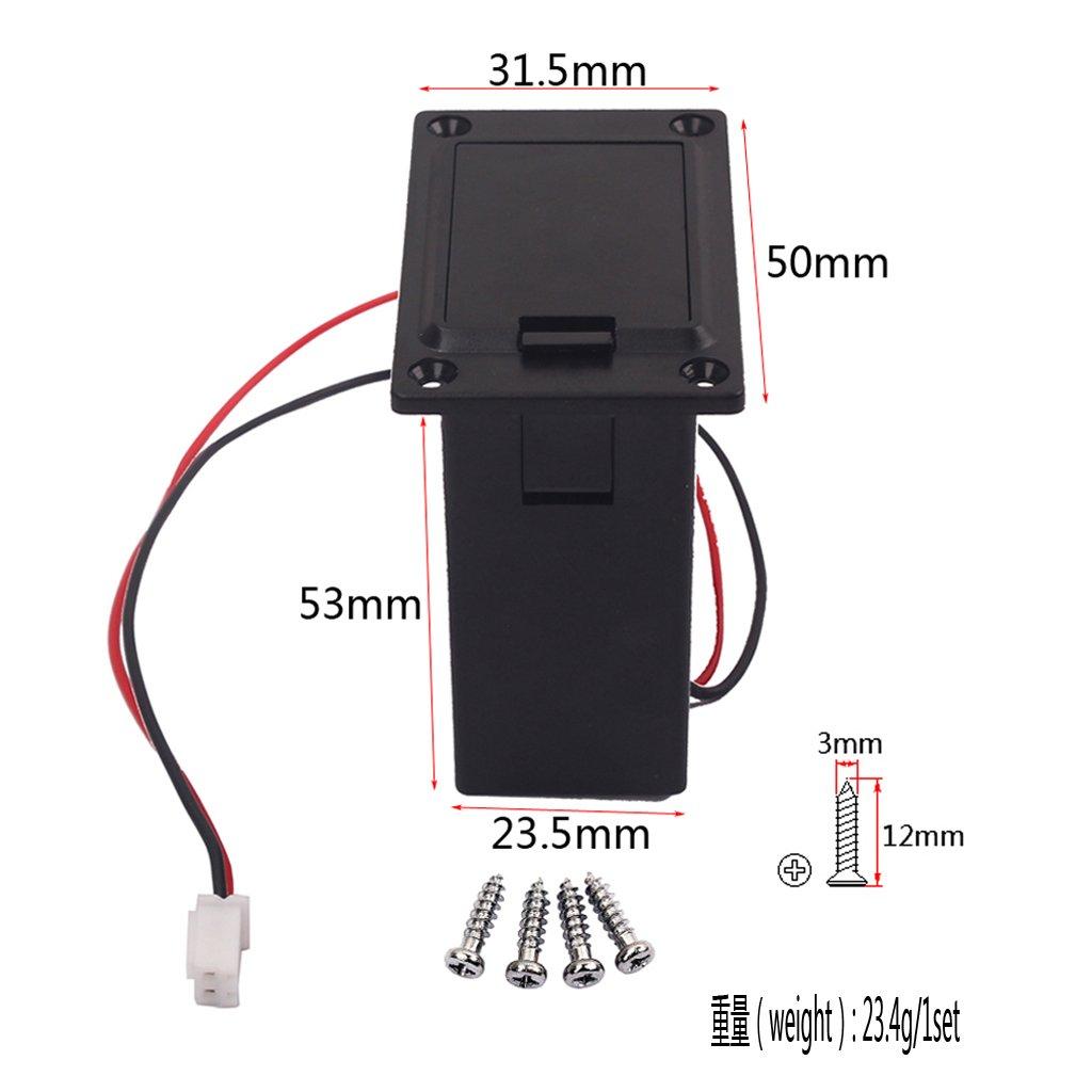 9V Battery Box Case Holder Compartment Cover Screws For Guitar Bass Ukulele Non-brand