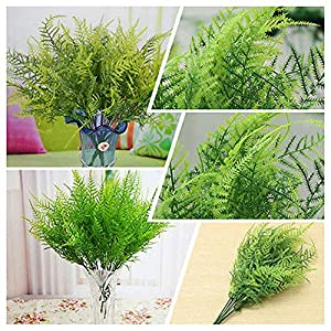 Goodjobb Verisimilar 7 Branches Artificial Fern Plant Floral Decor Green Decorative 82