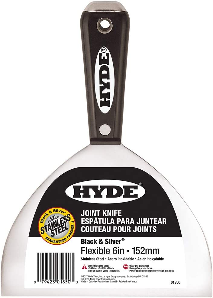 "06878 Black HYDE Joint Knife,Flexible,6/"",SS"