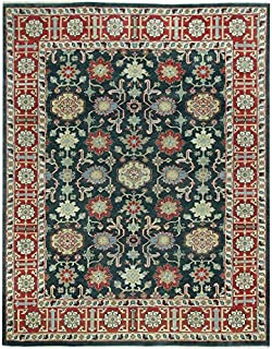 """product image for Heritage-Keshan Indigo Cardinal 8' 6"""" x 11' 6"""" Rectangle Hand Knotted Rug"""