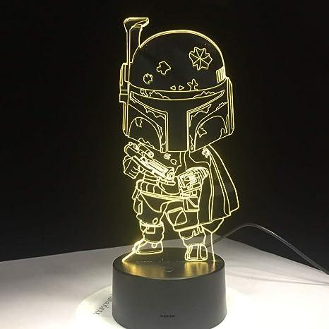 Lindo personaje de dibujos animados de Star War 3D Luz de la ...