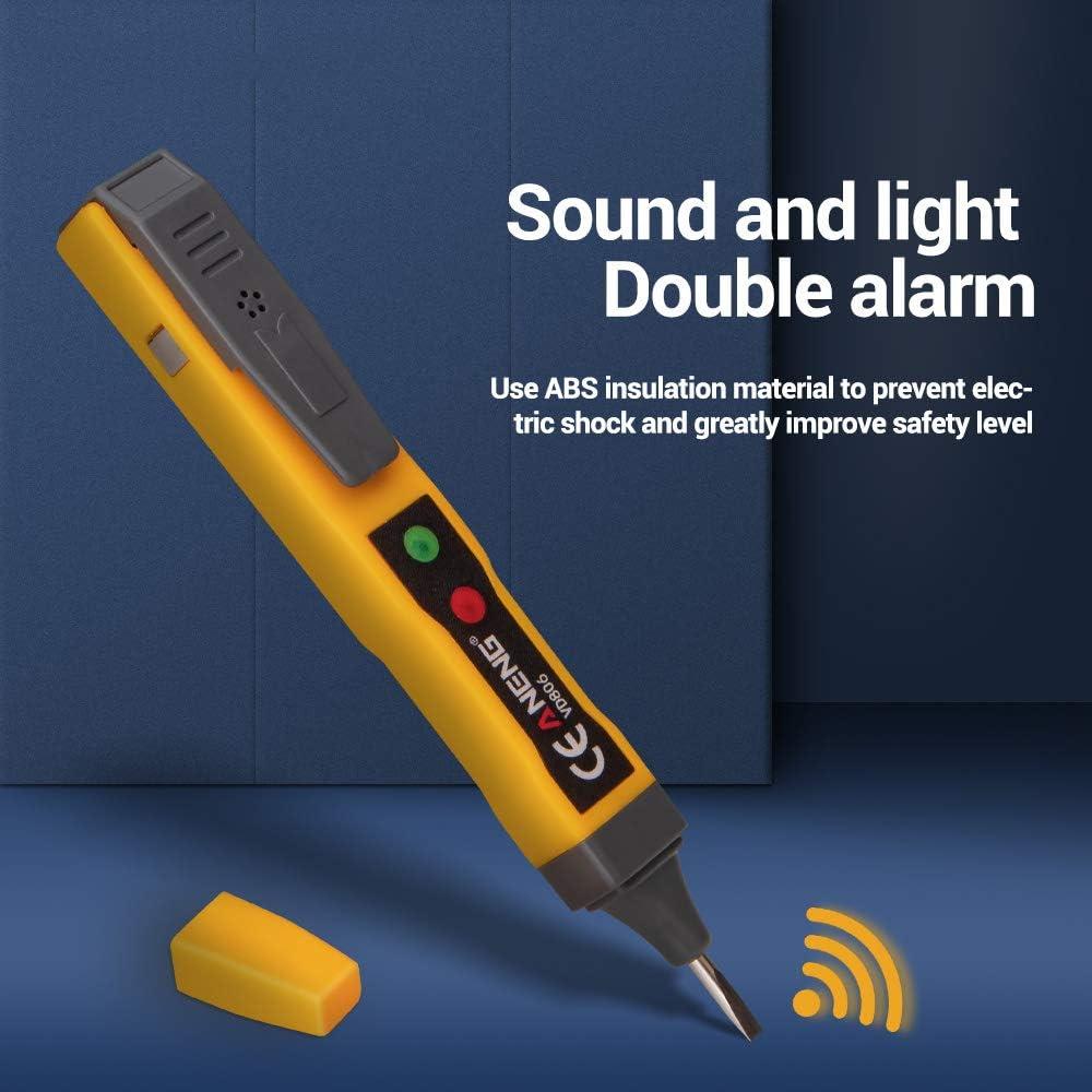 Testeur de tension AC//DC /électrique sans contact stylo testeur de continuit/é de batterie crayon avec alarme sonore et lumi/ère VD806