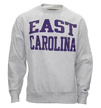 254002b2f680 Champion East Carolina Grey Reverse Weave Crew Neck Sweatshirt ECU ...