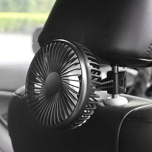 SEN Ventilador de Coche Motores de 12V / 24V Ventilador eléctrico pequeño Ventilador de Cabeza de camión Grande Ventilador USB Negro B: Amazon.es: Hogar