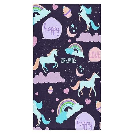 Custom unicornio toalla de toallas de baño de playa Baño Cuerpo Ducha?