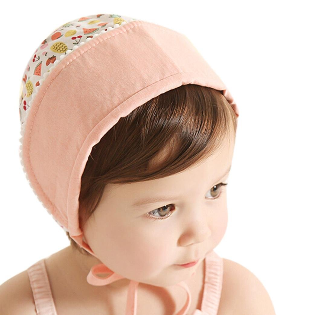 AMA(TM) Baby Girls Kids Royal Princess Flanging Sun Hat Beanie Cap Sunbonnet