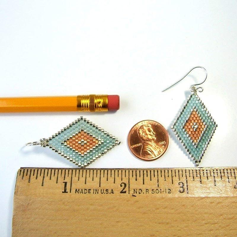 Gemstone Womens Jewelry Gift Glass Nugget Earrings Rustic Earrings In Peach And Aqua Blue Handmade Jewelry Lightweight Earrings