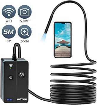 Jionchery Wifi Endoscope Camera USB Endoscope Inspection Camera with 6 LED Lights for Android iPhone,ipad and Laptop
