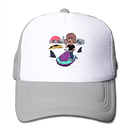 b30b9417b59 Image Unavailable. Image not available for. Color  Lil Pump GUCCI-GANG Logo  Trucker Caps Mesh ...