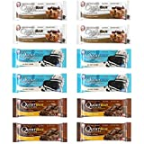 Quest Nutrition Protein Bar Chocolate Lover's Variety Pack. Low Carb Meal Replacement Bar w/20g+ Protein. High Fiber, Soy-Free, Gluten-Free (12 Count)