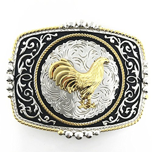 Texas West Western Cowboy/Cowgirl Texas Premium Square Buckle Head In Multi Symbol (Square Buckle Belt)