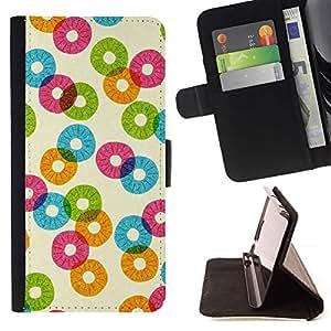 For Sony Xperia Z5 Compact Z5 Mini (Not for Normal Z5) Case , Patrón Piña Naranja abstracta del trullo- la tarjeta de Crédito Slots PU Funda de cuero Monedero caso cubierta de piel