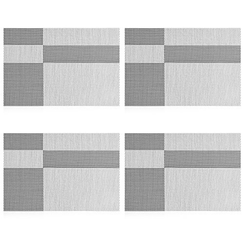 Uartlines Placemats Stain resistant Placemat Grey white