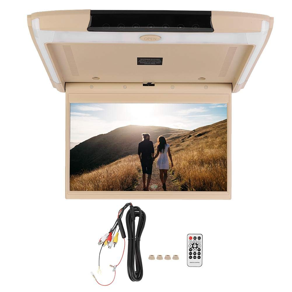 Car DVD Player, 12.5in IPS Screen Car 1080P Android System Intelligent DVD Player Ceiling Mount Bluetooth with HDMI USB for Android 6.0 Car Video Player by Qii lu