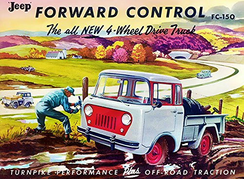 1956 Jeep FC-150 Forward Control 4-Wheel Drive Truck - Promotional Advertising Poster