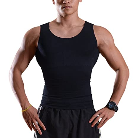 5703eb055 IMAGE Débardeur Gainant T-Shirt Amincissant - sous-Vêtements Masculins  Hommes - Gilet Perdre du Poids Ventre & Reins Couture Fort de Haute Qualité