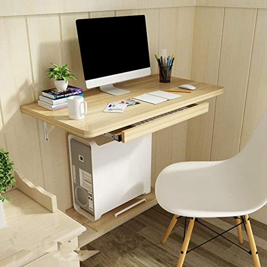 Escritorio para ordenador de pared, mesa flotante para el hogar ...