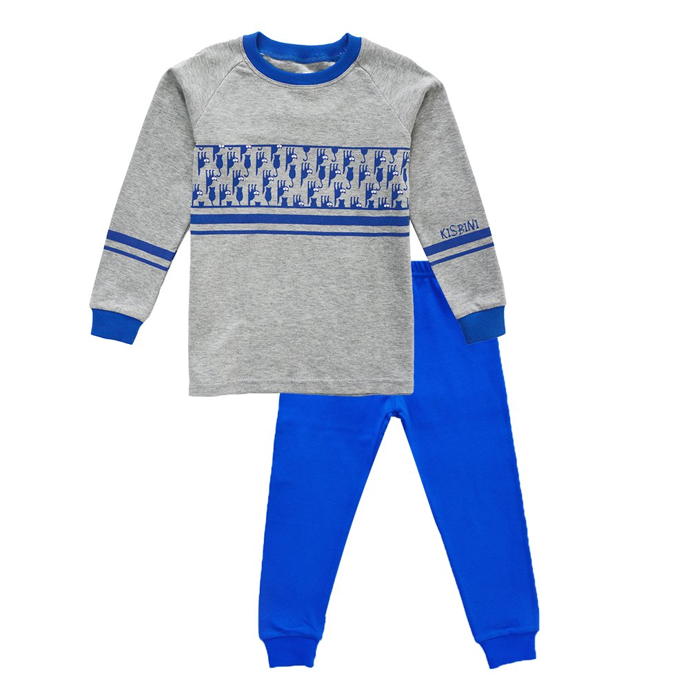 KISBINI Toddler Boys' Cartoon Blue Cat Pajama Pjs Pj Set for Kids & Children